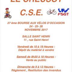 Bourse aux vélos du C.S.E au Creusot