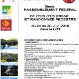 Rassemblement Fédéral de Cyclotourisme FSGT 2018