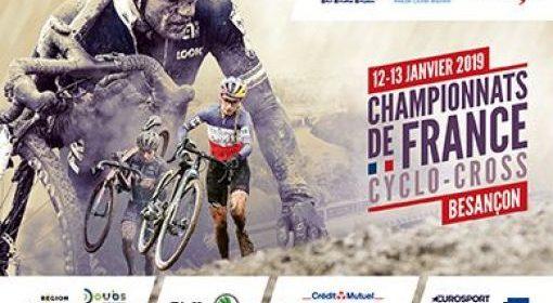 CHAMPIONNATS DE FRANCE CYCLO CROSS – Besançon – 12 et 13 janvier 2019